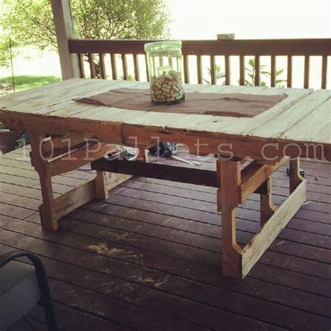 picnic bench out of pallets 15 unique pallet picnic table 101 pallets