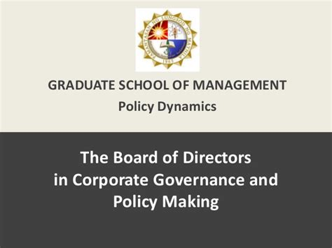 Corporate Governance Mba Notes Pdf by The Of The Board Of Directors In Corporate Governance
