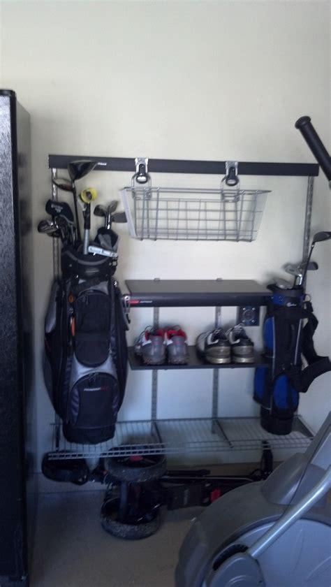 Golf Storage Rack Garage by 78 Best Images About Golf Organizer For Garage On Golf Bags Garage Organization