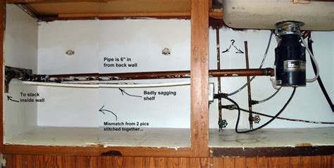Moving Sink Plumbing by Installing New Cabinet Need To Move Kitchen Drain Line