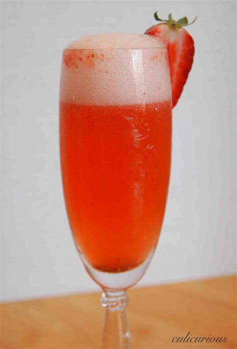 easy cocktails strawberry bellini recipe culicurious