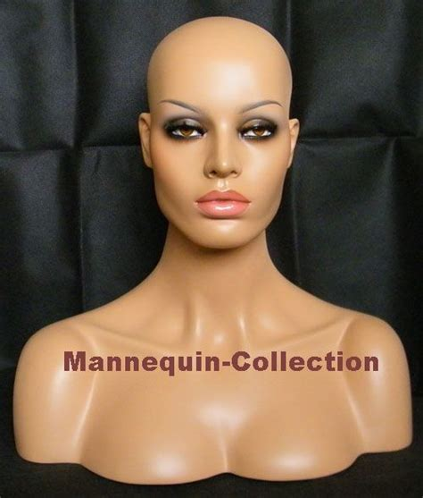 realistic mannequin heads china realistic mannequin head bust with glass eyes for