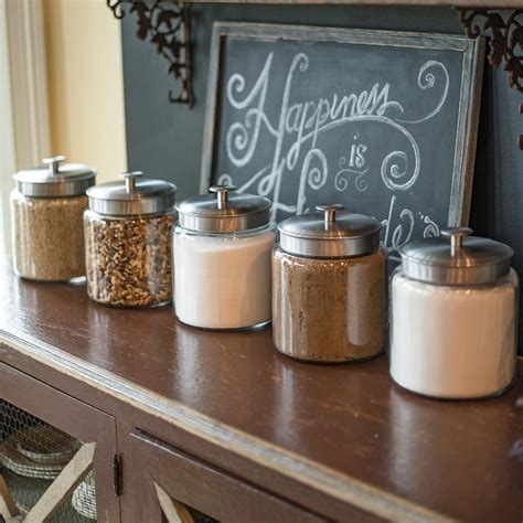 Glass Kitchen Canister Set amazon com anchor hocking montana glass jar with fresh