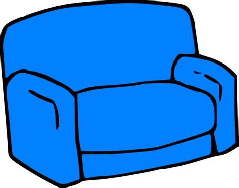 cartoon sofa blue sofa clip art at clker com vector clip art online