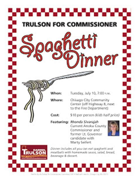 And Spaghetti Fundraiser Tickets Clipart Clipart Suggest Spaghetti Dinner Fundraiser Flyer Template