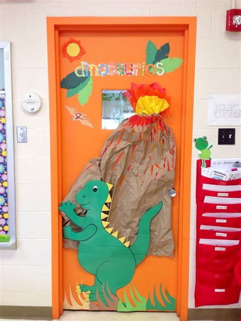 Fall Door Decorations For Preschool Dinosaur Classroom Door Classroom Ideas Pinterest
