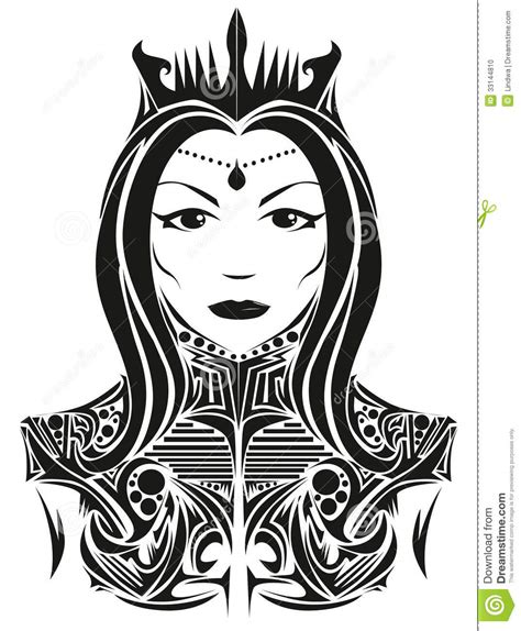 queen tattoo taipei abstract queen stock photo image 33144810