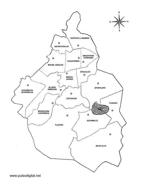 Mapa Del Centro Historico De La Ciudad De Mexico
