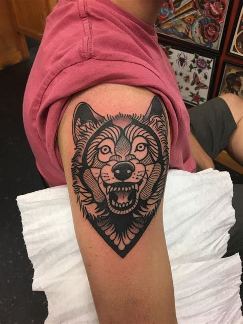 tattoo gainesville fl wolf done by at or gainesville