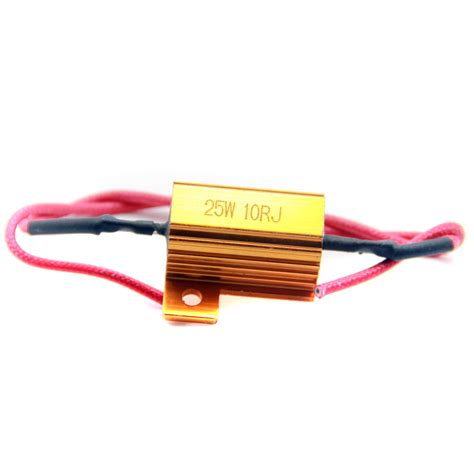 resistor for 12v bulb pair car drl daytime running light no error 5 ohm 25w resistor decoder 12v led bulbs adapters