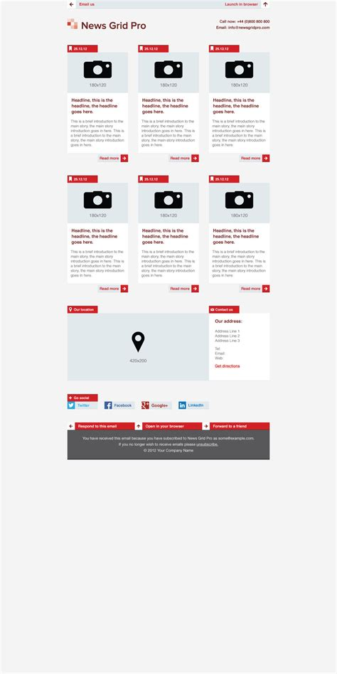 sketchbook pro grid template news grid pro email newsletter template by dsthemes