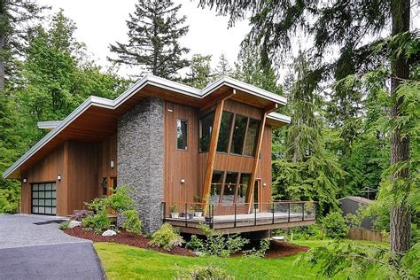 modern green home design impressive modern cottage at the base of squak mountain