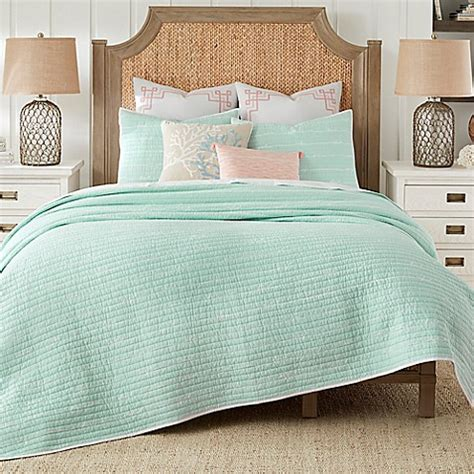 coastal living 174 sand script quilt set bed bath beyond