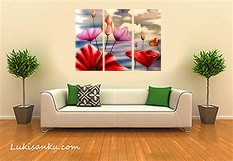 Hiasan Dinding Hiasan Dinding Abstrak Bunga Hijau Minimalis lukisan pemandangan jual lukisan murah jual lukisan bali www lukisanku