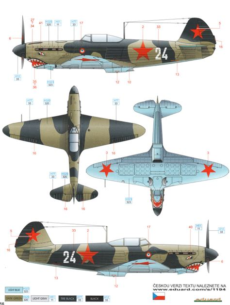 Amig7422 Wwii Soviet Airplanes Green Black Camouflages yakovlev yak 1 early war camouflage color profile and paint guide