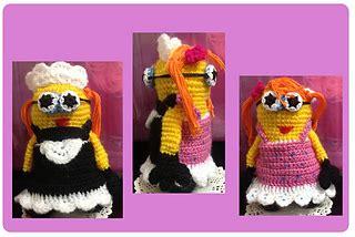 minion girl amigurumi pattern amigurumi today ravelry 2 in 1 minion girl amigurumi crochet pdf pattern