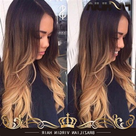 blonde hair ombred in to brown images blonde ombre on brown hair ombre hair brown to caramel to