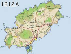 Ibiza Spain Map by Ibiza Map Of Ibiza Balearic Island Islas Baleares