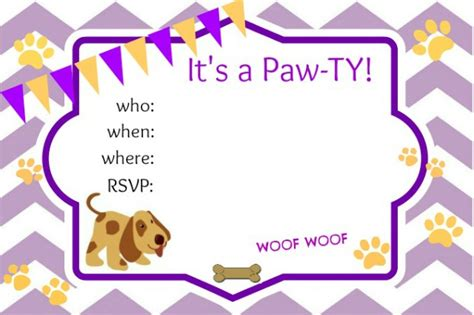 puppy invitations puppy ideas about a