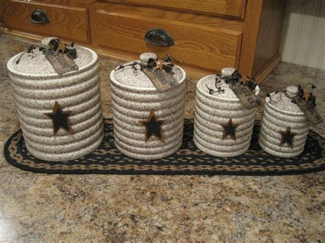 primitive kitchen canister sets grubby canister set prim stars pinterest canister