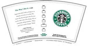 starbucks coffee cup template starbucks wrapper paper crafts printables