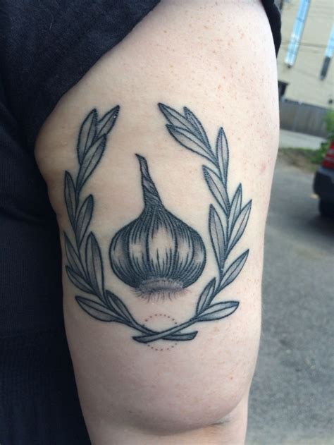 garlic tattoo collection of 25 garlic on arm