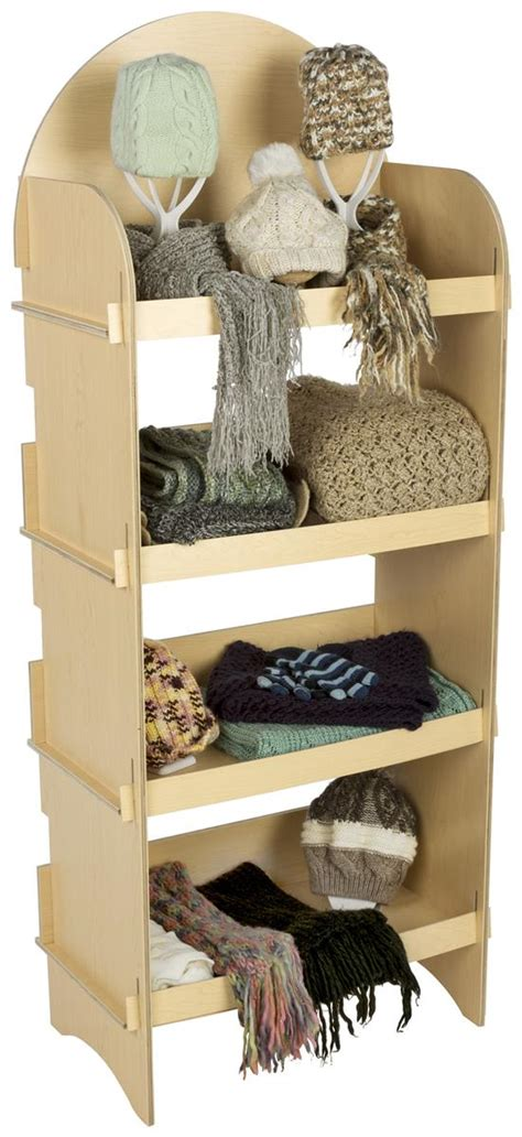 shelf wooden display freestanding knock