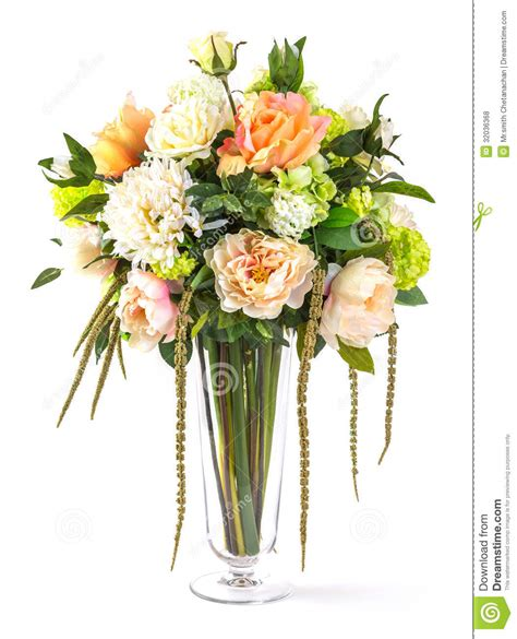 Bouquet Of Flowers In A Vase by Bouquet Of Flowers In Glass Vase Royalty Free Stock Photos