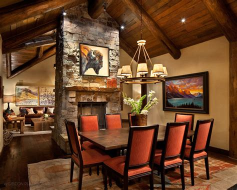 lake house dining room ideas whitefish montana private lake house remodel rustic