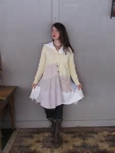 upcycled clothing patchwork sweater coat ooak boho wearable