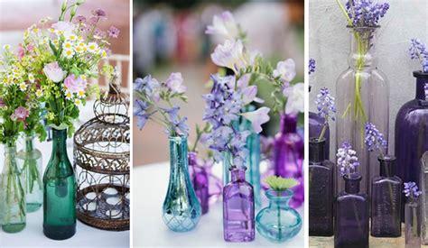 como decorar botellas de vino con flores utilizar botellas de vino para decorar bodas bodegas andrade