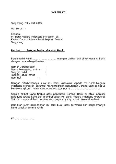 Surat Permohonan Pembukaan Rekening Bank Mandiri