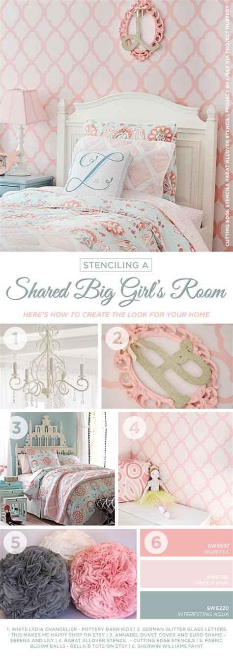 girls bedroom stencils pictures of pink girls rooms the most suitable home design