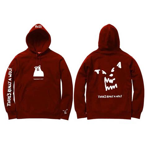 Hoodie Huk Redmerch there s really a wolf russ merchnow your favorite band merch and more