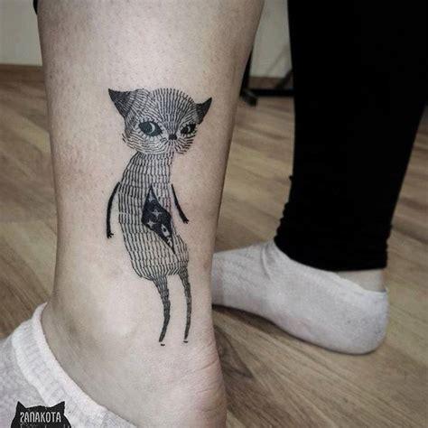 cat tattoo ink superb doberman dog tattoo on leg
