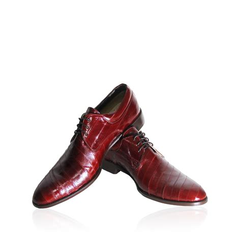 burgundy genuine fish leather men s dress shoes s
