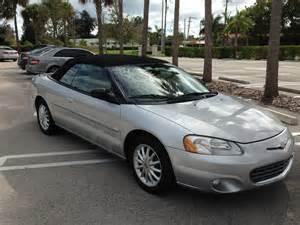 Chrysler Sebring 2001 Convertible 2001 Chrysler Sebring Pictures Cargurus
