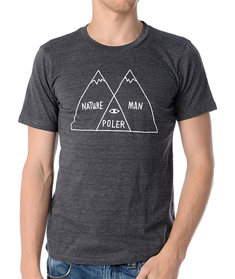 poler venn diagram charcoal t shirt zumiez