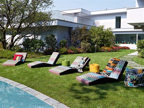 missoni outdoor furniture missoni outdoor modern chaise lounger couture outdoor