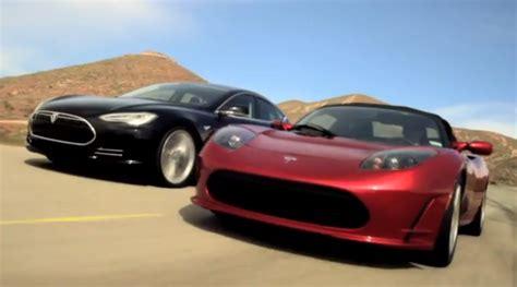 Tesla Roadster Model S Together At Last Tesla Model S And Roadster Hit The Road