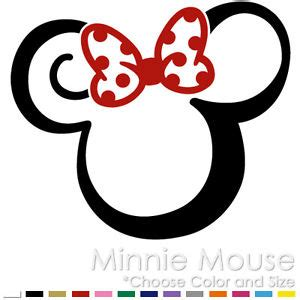 tribal minnie mouse two color tattoo mickey disney vinyl