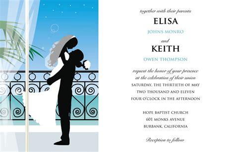 sample wedding invitation card sample wedding invitation card