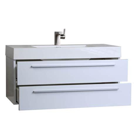 39 bathroom vanity buy 39 25 in wall mount contemporary bathroom vanity high gloss white tn t1000 hgw on