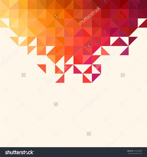 mosaic pattern shapes stock vector background of geometric shapes colorful