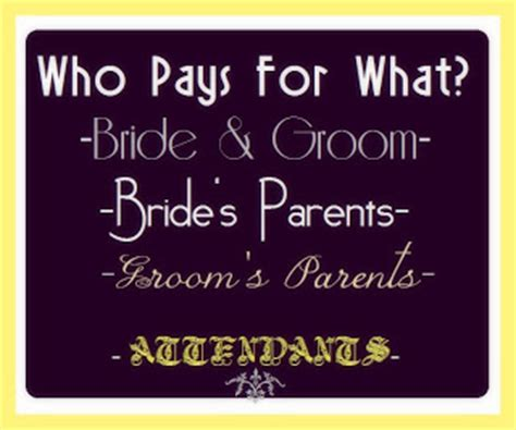 Who Pays For Wedding Shower by A Stylish Affair By Who Pays For What At A Wedding
