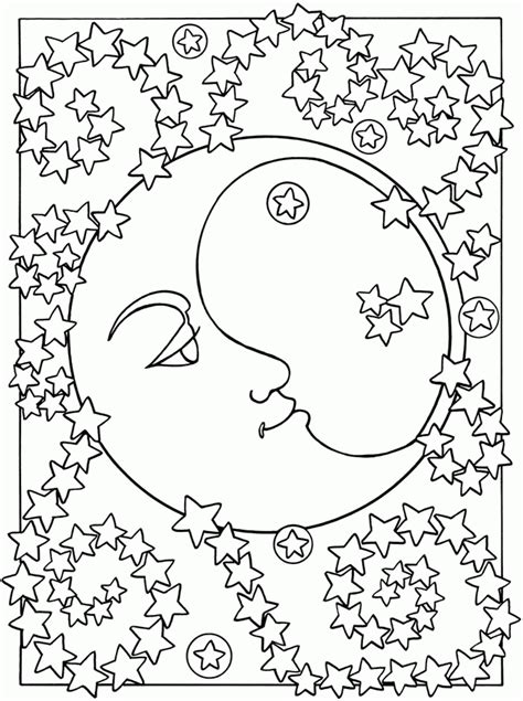 moon coloring page pdf 14 pics of detailed coloring pages moon and star sun and