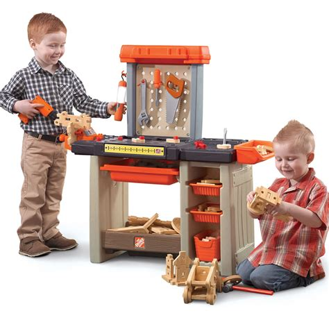 child work bench home depot handyman workbench kids pretend play step2