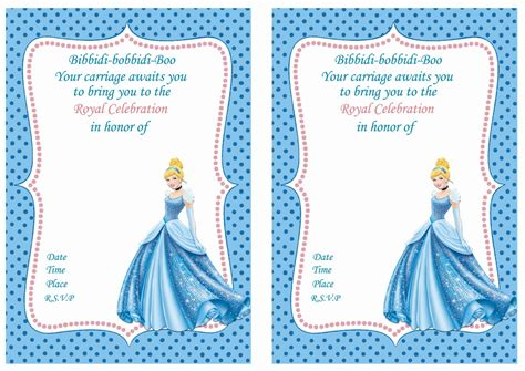 cinderella birthday card template cinderella birthday invitations cinderella birthday
