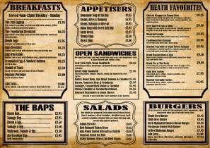 cafe menu design ideas alice