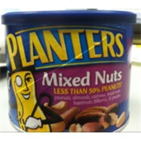 Planters Mixed Nuts Calories by Planters Mixed Nuts Less Than 50 Peanuts Calories